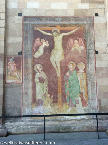 More frescoes on the side of a church.