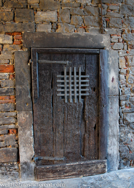 A mysterious door in a wall.