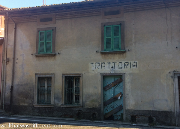An old trattoria on the edge of town.